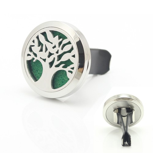 High Quality Wholesale 316l Stainless Steel Aromatherapy Essential Oil Diffuser Decoration Locket Clip On Car