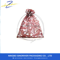 ozs110915009 Red -- Roses Wedding Favors Organza Gift Bag