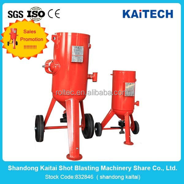 Shandong kaitai metal abrasive steel shot and steel grit and movable blast pot with high cost perforamnce low price for sale