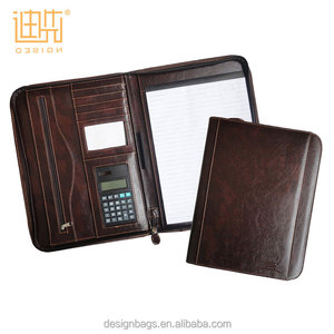 business conference custom a4 pu leather expandable portfolio folder with calculator pen loop 2019 conference folder portfolio