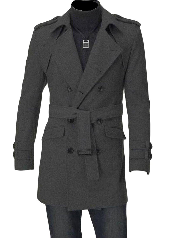 omniscient Mens Camouflage Zipper Jackets Trench Coat Overcoat with Hood