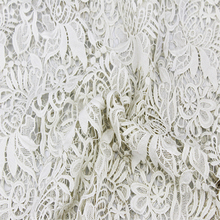 Africa Embroidery 3d White Bridal Cord Lace Fabric
