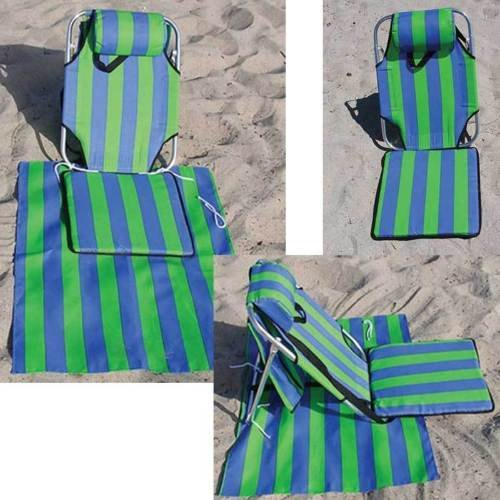 Waterproof Portable Adjustable Reclining Foldable Mat Chair Beach