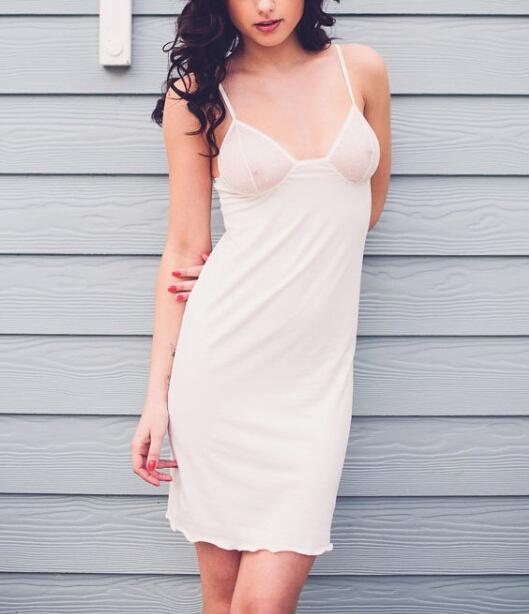f5da54a54420 Wholesale Factory Cheap White Blue Transparent Girls Sexy Night Sleeping  Dress for Woman