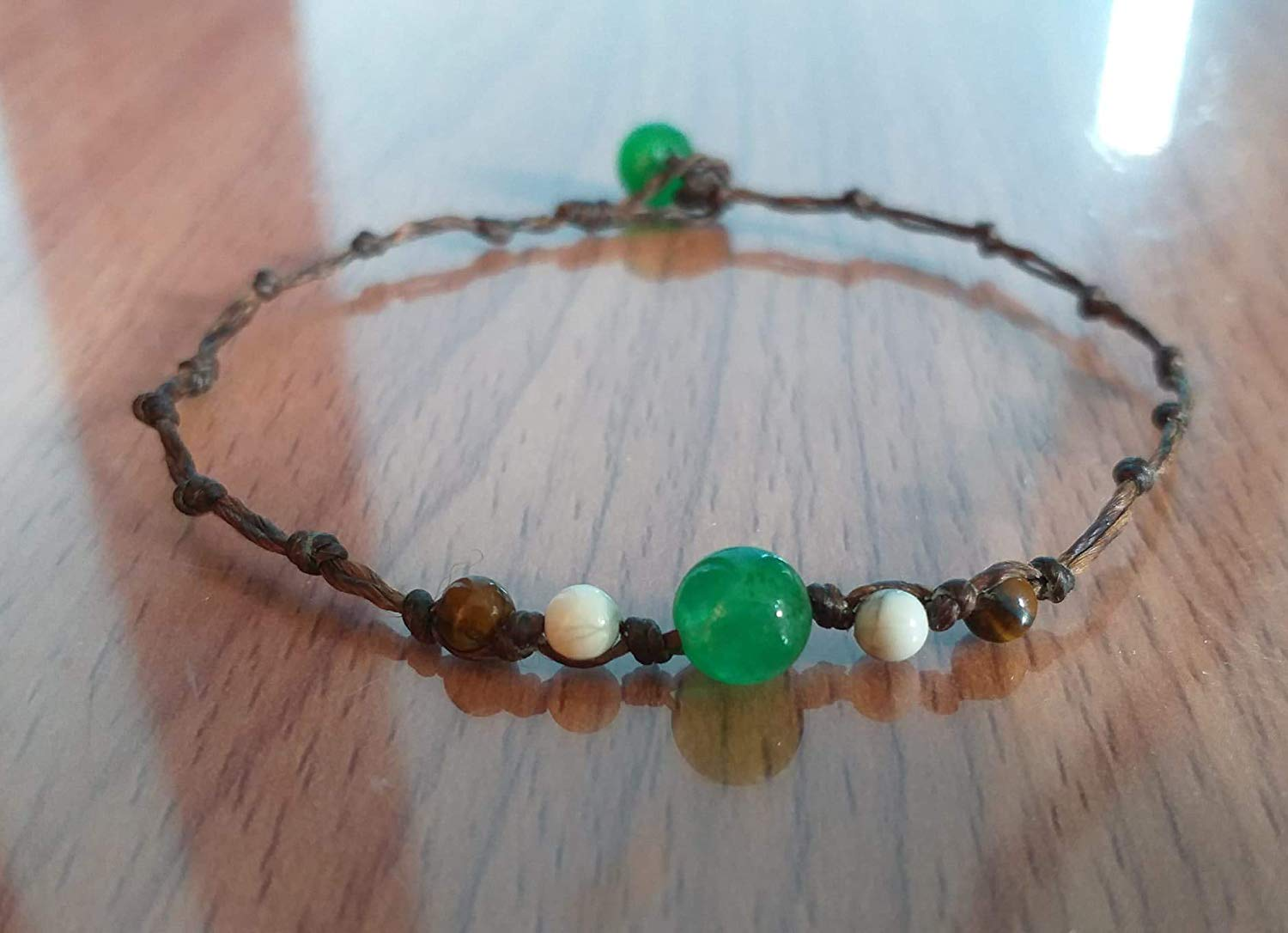 Green jade anklets,Tiger Eye anklets,howlite stone anklet is fashionable for both men and women.