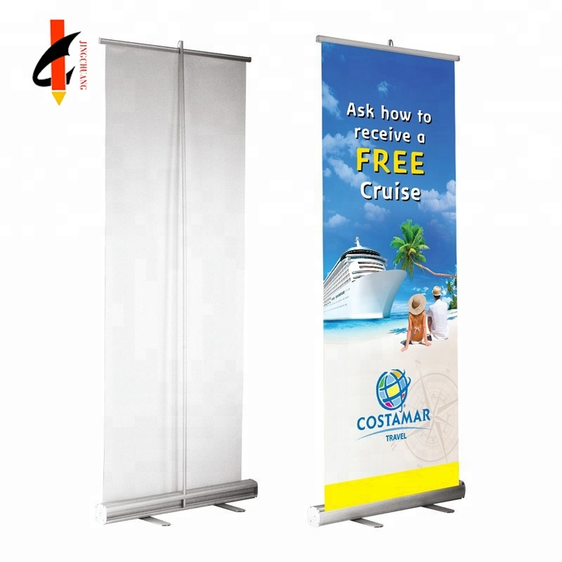Fantastic Displays 33 Portable Retractable Roll Up Banner Stand Sign With Print By
