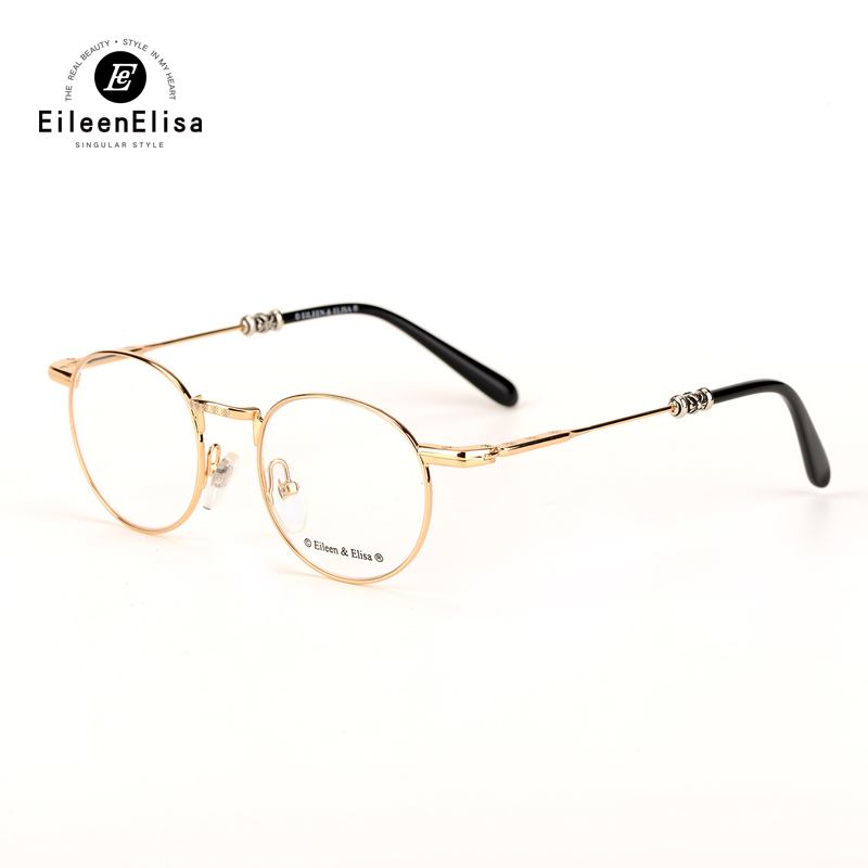 EE China Wholesale Optical Eyeglasses Frame Gold Metal Round Optical Frame Displays