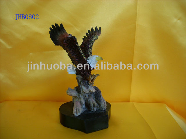 polyresin eagle statue for home decoration