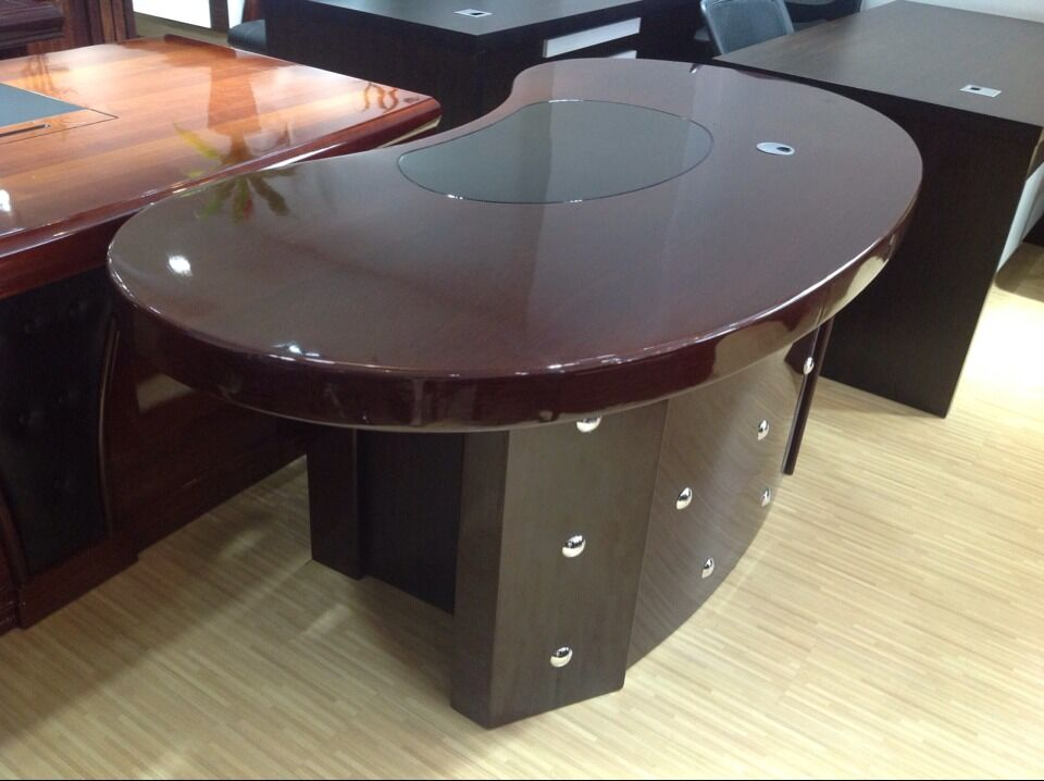Professional Office Furniture Half Round European Style Semi