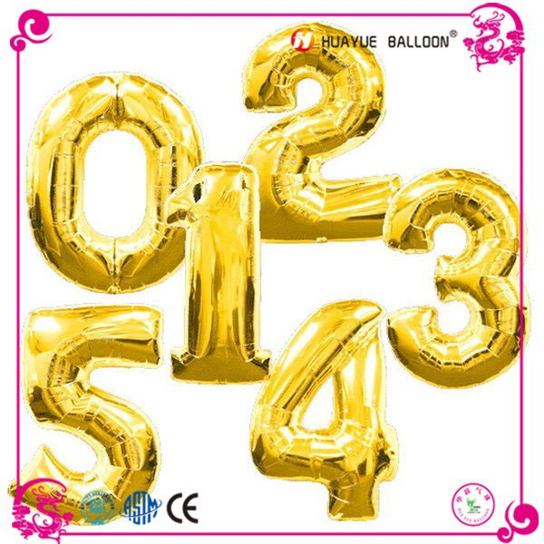 18 inch letter and number foil balloon helium balloon used for wedding decoration