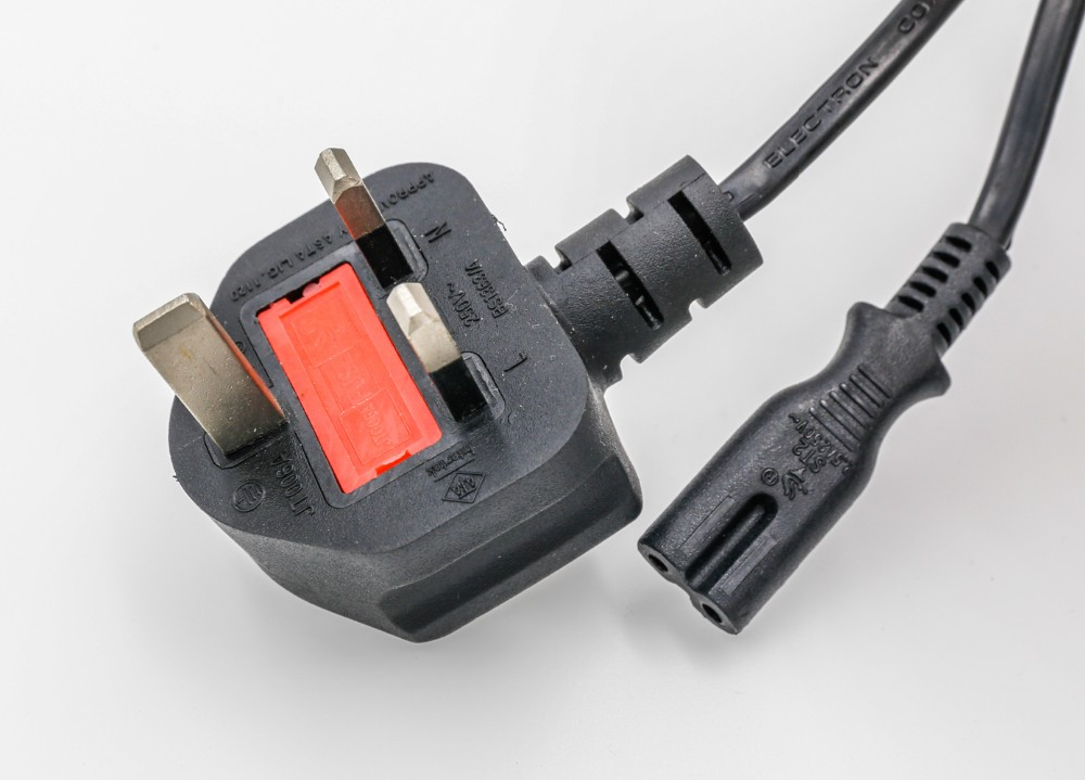 3 PIN 1.8 M C5 CloverLeaf UK Mains Power Kabel Timbal Kabel untuk Adaptor Laptop Acer Dell HP Compaq Sony Toshiba Vaio Delta
