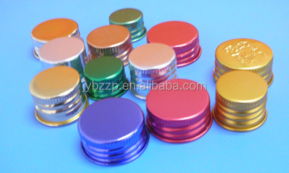 black aluminum lid for BPA free plastic jar,aluminum caps for food packaging