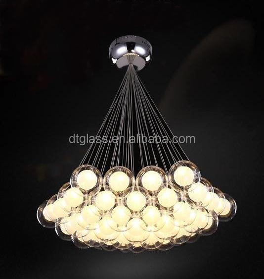 Glass ball chandelier wholesale ball chandeliers suppliers alibaba aloadofball Image collections