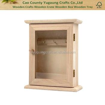 Cheap Custom Wooden Key Hanging Cabinet Wood Key Box Home Decoration