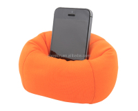 Desktop cell phone stand holder stuffed bean bag soft mobile phone holder