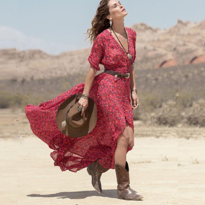 9c78557d18ada feitong Women Beach Dress Chiffon Floral Long Maxi Dress Boho Summer dress  women plus size summer dress beach boho #w30