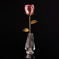 wholesale wedding decoration new products glass crystal rose flower