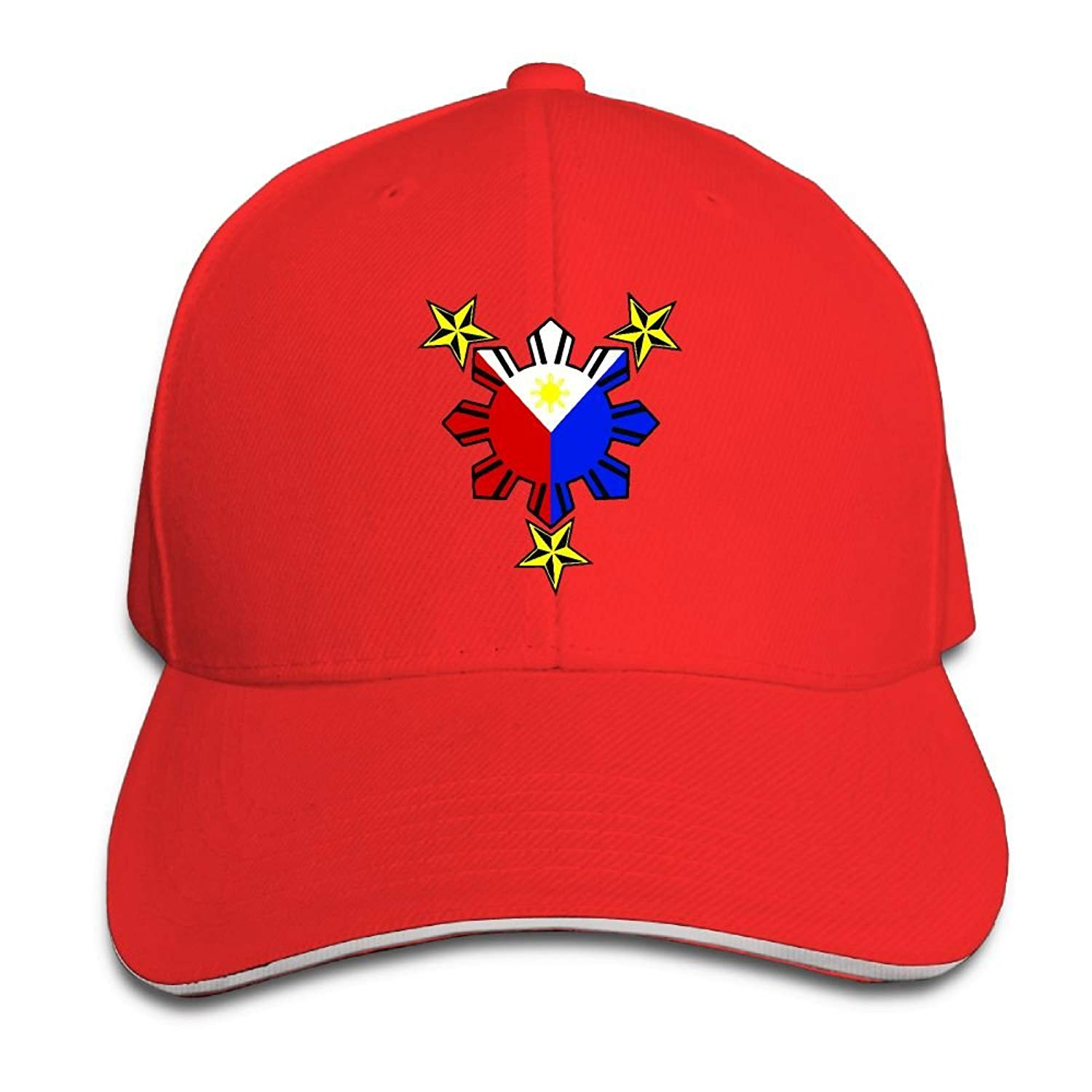 Baseball Cap for Men /& Women Tribal Philippines Filipino Sun and Stars Flag Unisex Cotton Adjustable Jeans Cap Hat