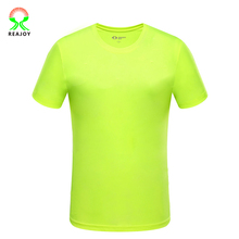 100% polyester dry fit reflective tape safety tshirt