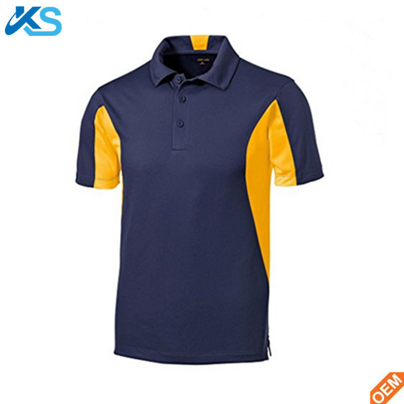 2bfbae5b Free Sample Custom Blank Mens Two Color Breathable Dry Fit 100%Polyester  Running Polo Shirts