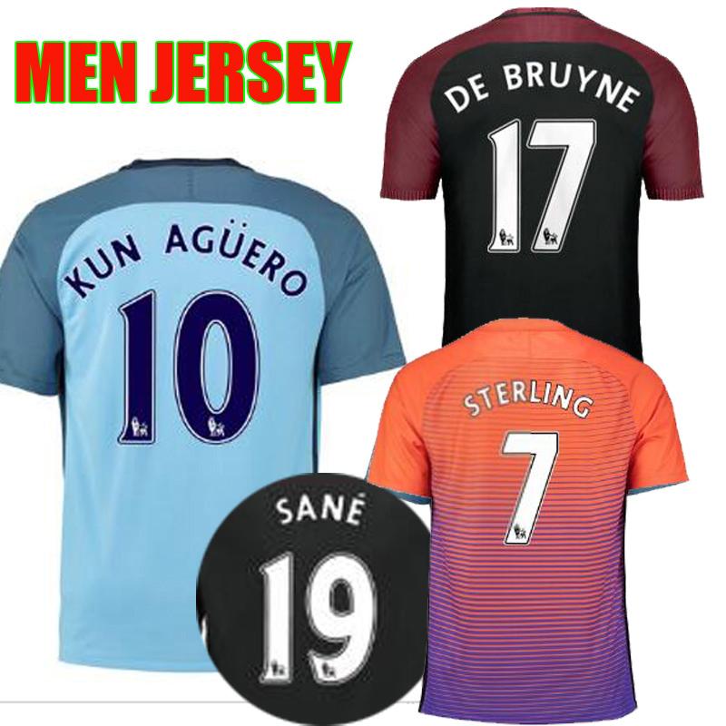 511a94867 2014 15 manchester city 16 kun aguero home soccer shirt kit