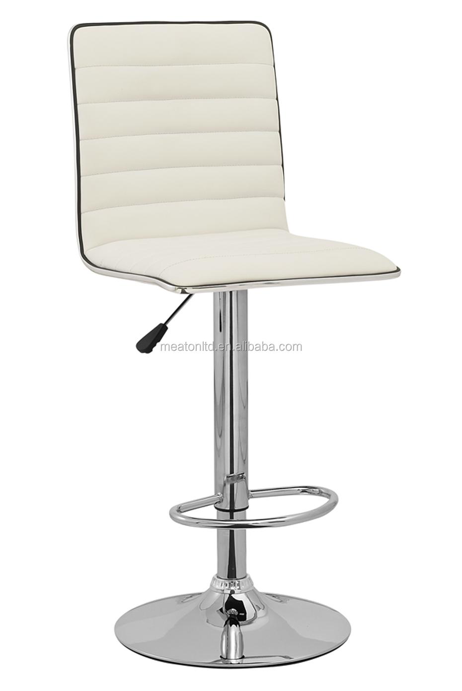 swivel hiline bar stool white