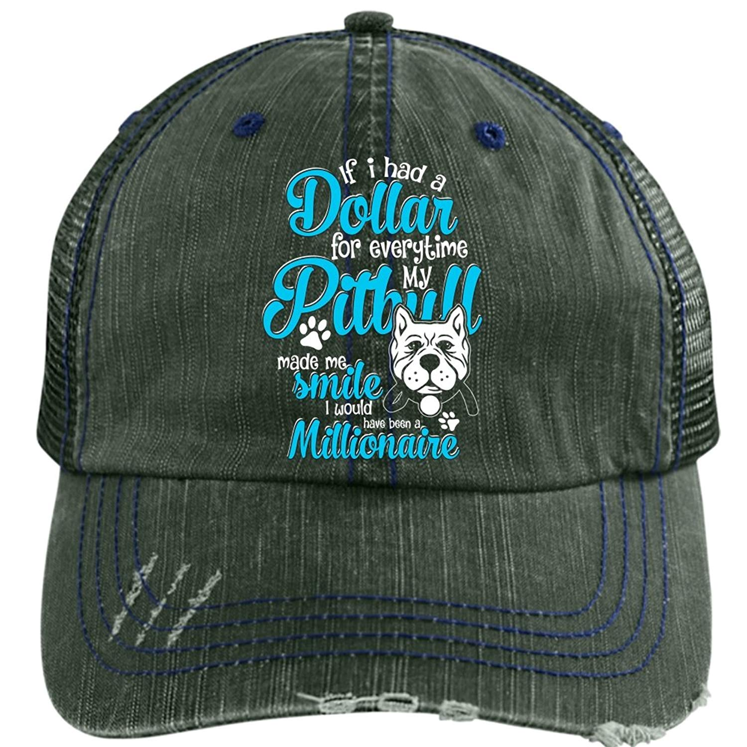 64ec066e Get Quotations · Everytime My Pit Bull Made Me Smile Hat, I Love My Pit  Bull Trucker Cap
