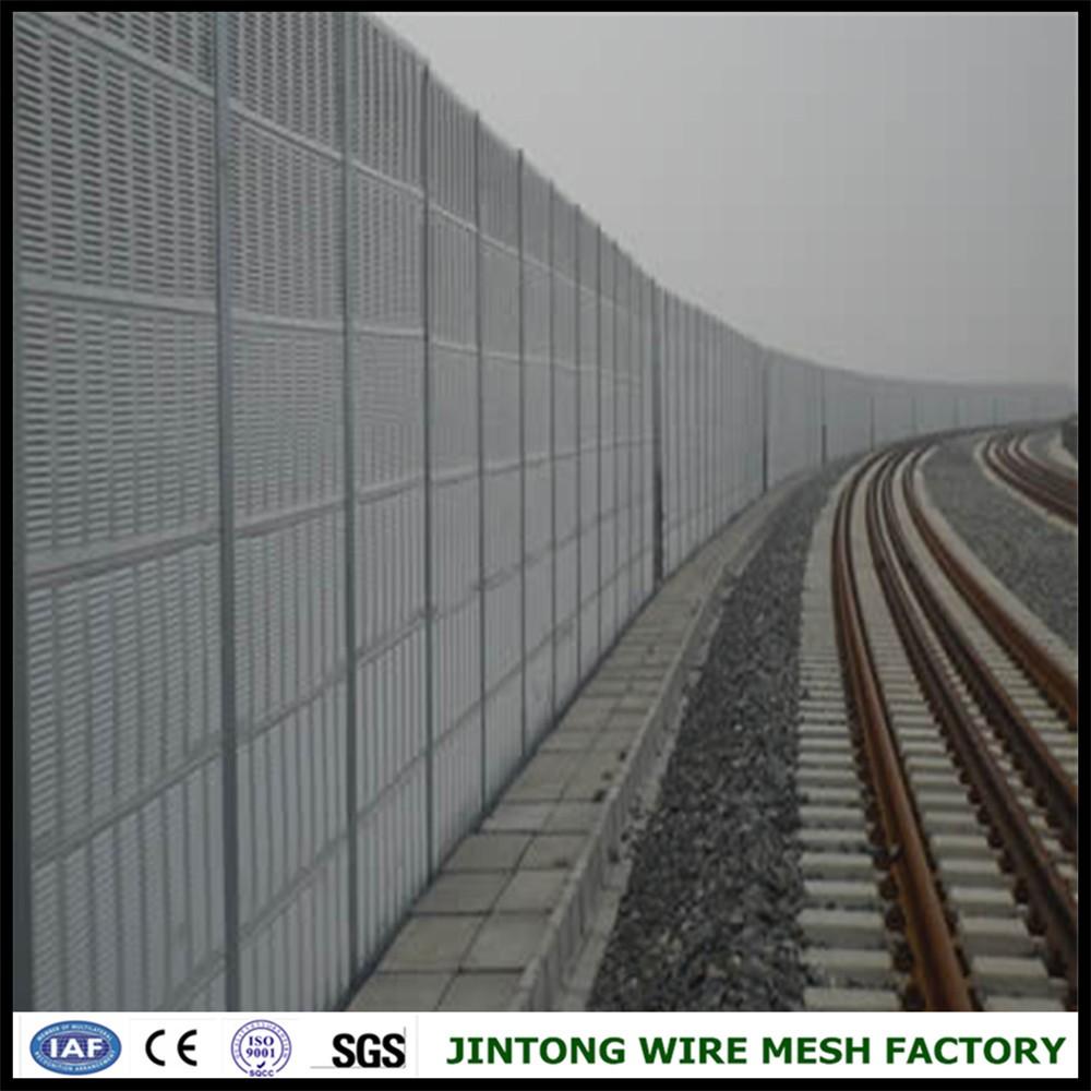 Highway Aluminum Panel Acoustic Barrier Panel Sound Barrier Noise Barrier