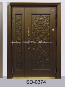 Nigeria Main Entrance Exterior Cheap Steel Security Door Design