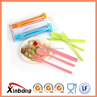 Customized gift promotional fork spoon chopsticks portable plastic tableware flatware set of 3 piece