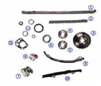 Sichuan TOPASIA Timing Chain Kit Used for Nissana 2.4L KA24DE 4cyl 98-04
