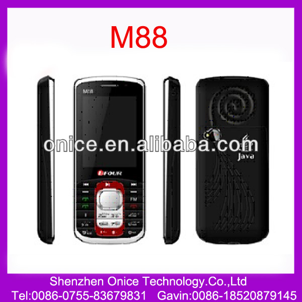 java supported mobile phones M88 2.4 inch Dual SIM dual standby support Bluetooth,FM,MP3/MP4,TV