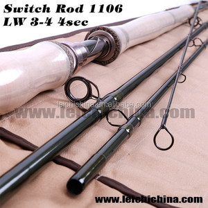 Switch Rod 11ft 6wt 4pc Korean carbon fly fishing switch rod