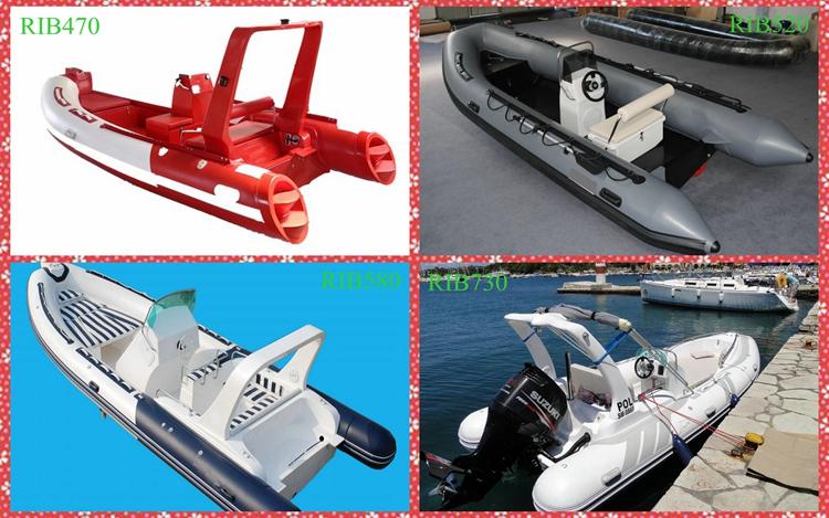 24 רגליים בשימוש מתנפח סירות צלעות צלעות Hypalon מתנפח סירת למכירה