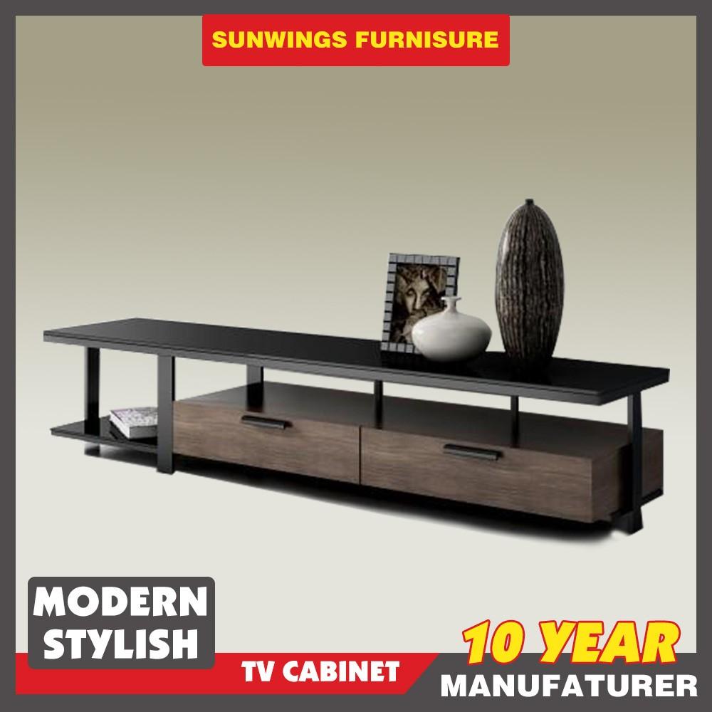 Diseño moderno mueble de televisión led tapa de cristal mesa de tv ...