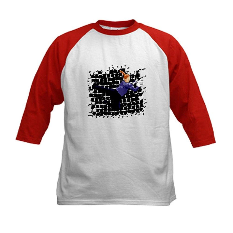 40198f24ef8 Get Quotations · CafePress Kids Baseball Jersey - Soccer Girl Goalie Kids  Baseball Jersey