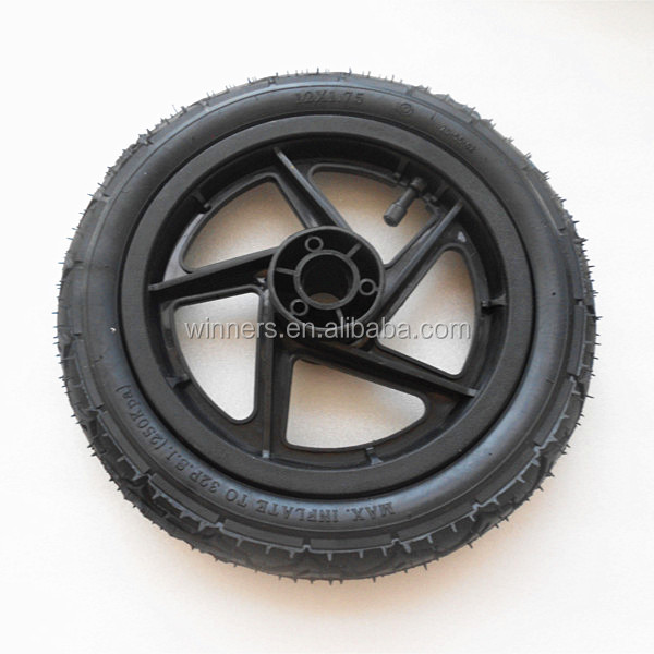 12 Inch Plastic Wheels Bicycle Trailer Wheels Cart Trailer
