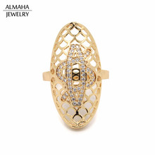 18k Gold Filled Jewelry Full Finger Knuckle Wholesale Copper Ring