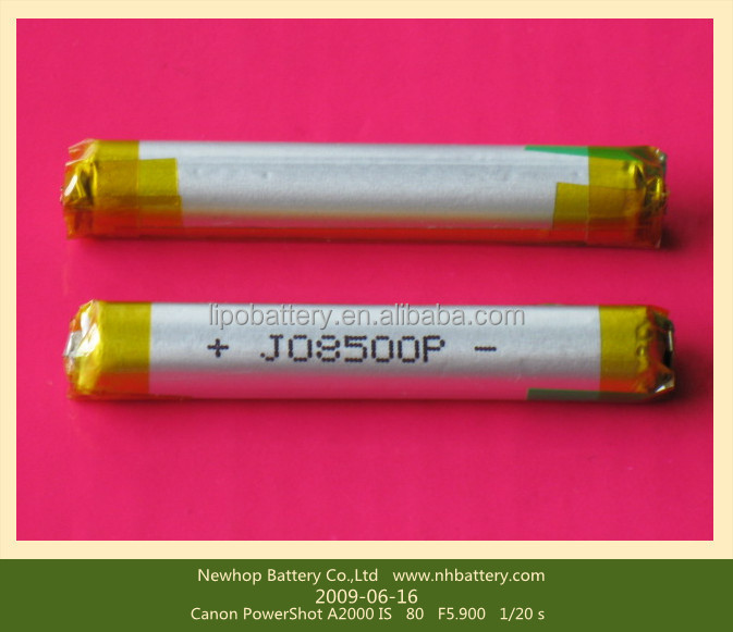 3.7v Aaa Lipo Li-ion Rechargeable Battery 10440 With Size 10mm ...