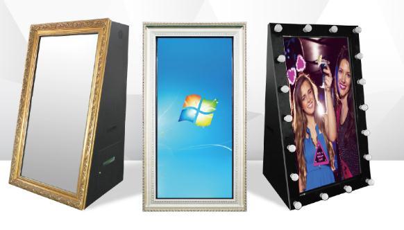 12.9 polegadas ipad estande foto selfie portátil photo booth, espelho mágico foto quiosque para venda