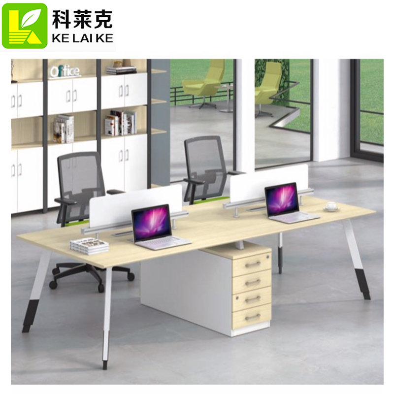 Executive metal office desk with 6 drawer double side
