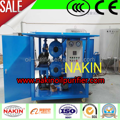 Double-stage vacuum transformer oil purifier machine
