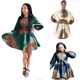 MC78120 Plus size short traditional african dashiki print dress