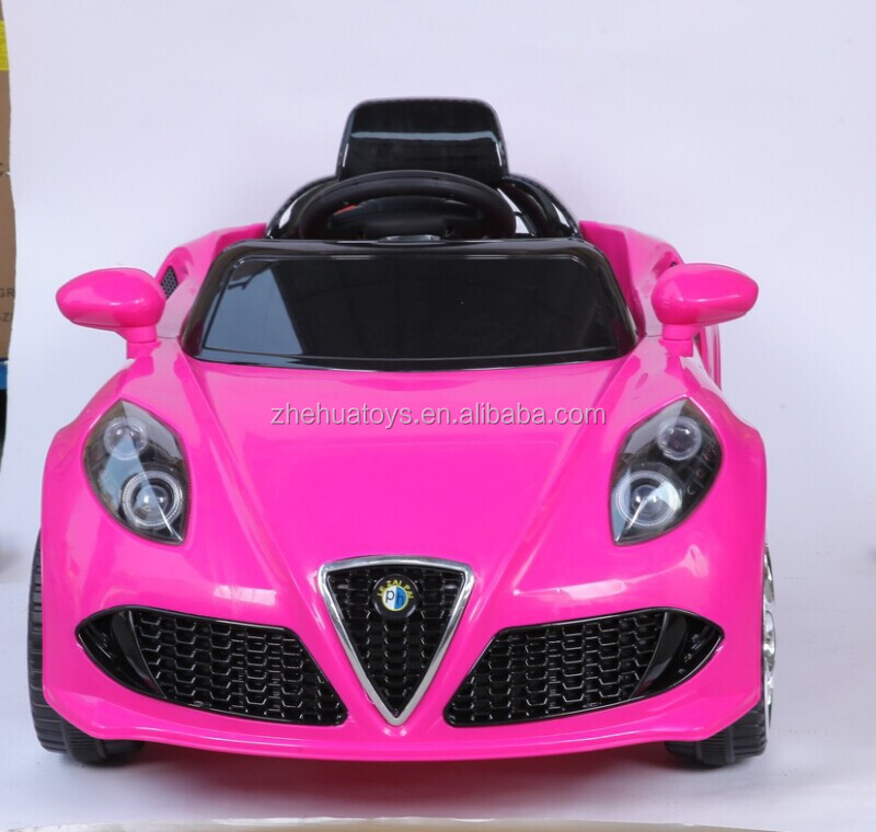 pink color kids car toy automatic wholesale ride on battery operated kids baby car