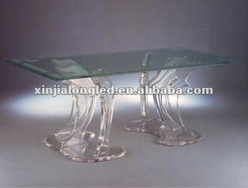 Dolphin Dining Room Table Bases Acrylic Chair Set Fashionable Tea And Chairs