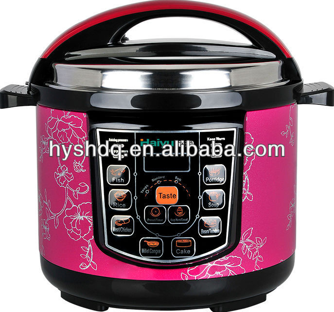 Four Digital Large Display Electric Pressure Cookers (Purple Color)