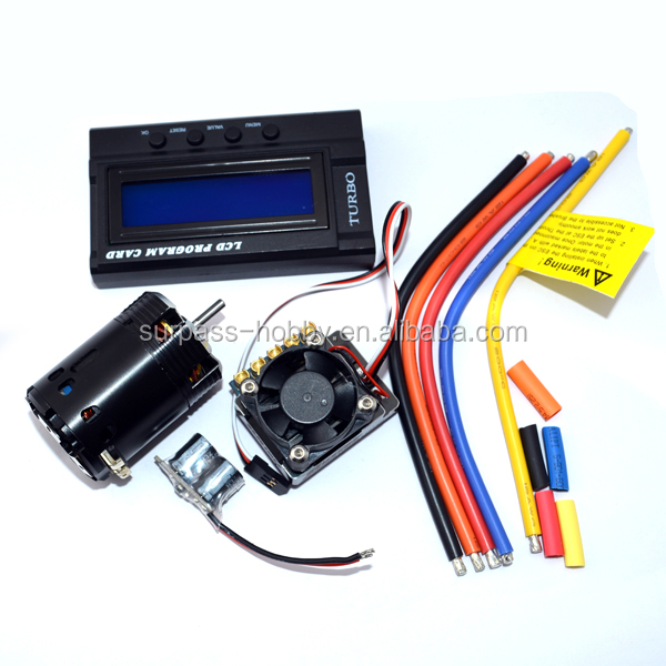 rc car drift parts 540 sensorless brushless dc motor+120A brushless esc combo