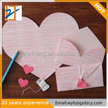 handmade creative heart shape envelope style design folding paper