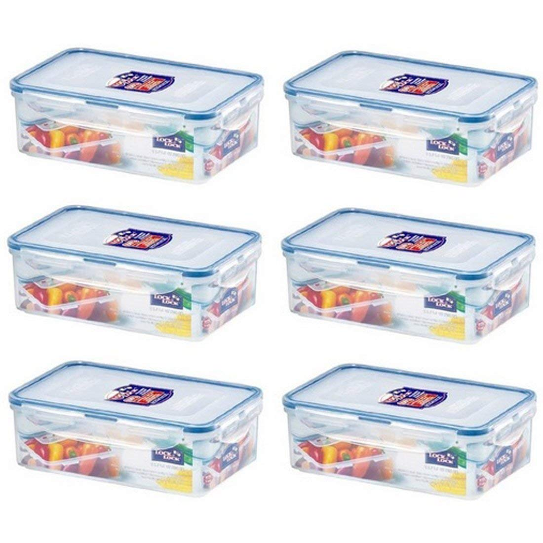 Get Quotations · (Pack Of 6) LOCK U0026 LOCK Airtight Rectangular Food Storage  Container 33.81 Oz