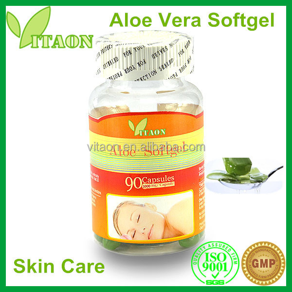 1000 mg ISO GMP Certificate and OEM Private Label Aloe Vera Vitamin Facial Oil Softgel